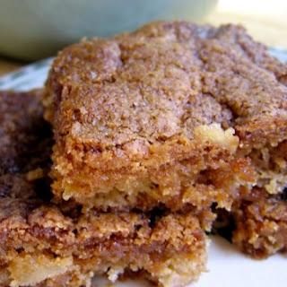 Skinny Apple Brownies Recipe (AKA Apple Nut Bars)
