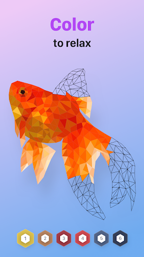 POLYGON : Coloring-Booku2219 Poly Art by Numbers filehippodl screenshot 1
