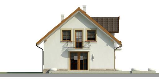 Dom przy Alabastrowej 34 - Elewacja lewa