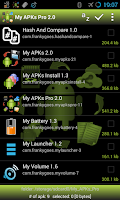 Screenshot of My APKs Pro backup manage apps
