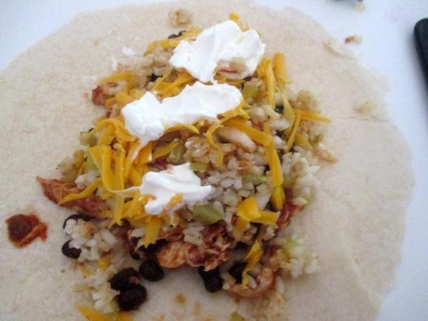 Prepare tortilla according to package directions.  Add 1/2 cup meat mixture down the center of...