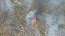 Imagen del incendio cedida por el Infoca