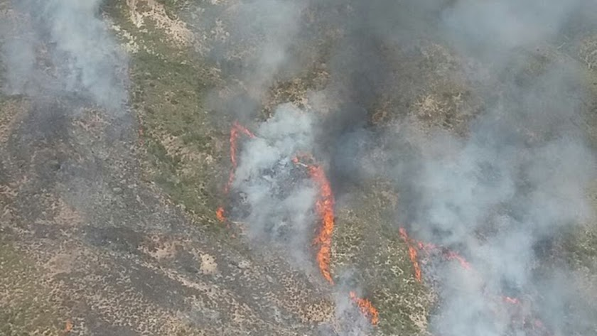 Incendio forestal en Sierra Alhamilla
