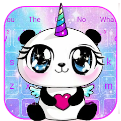 Galaxy Unicorn Panda Emoji Keyboard Theme