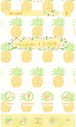 Cute Theme Tropical Pineapples