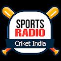Sports radio cricket india sport cricket radio app icon