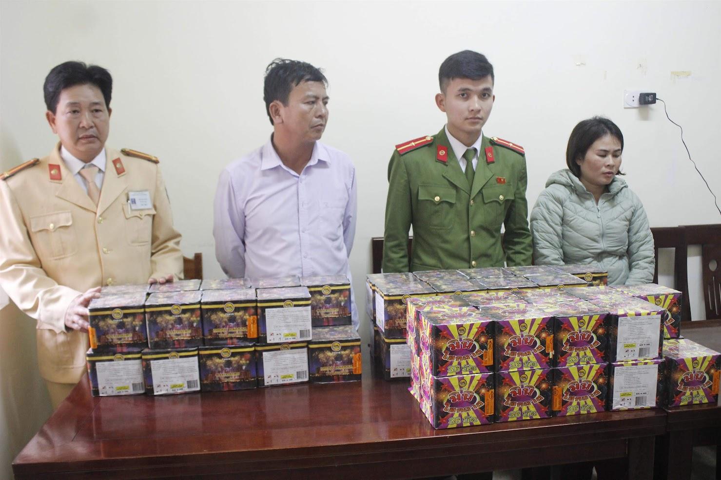 Công an huyện Thanh Chương phá Chuyên án 219P,  bắt giữ 2 đối tượng (X), thu giữ gần 100 kg pháo
