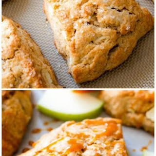 Caramel Apple Cinnamon Scones