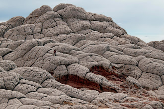"""Photo: Focus on the Subject II, """"White Pocket"""" area of the Vermilion Cliffs Wilderness. I was very far from my friend Michael and at the time he wasn't aware I was taking this image, used a 18-200mm, about 135mm for this shot. As always, thanks for your feedback!"""