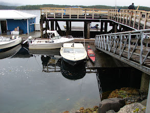 Photo: My kayak on the dock in Shearwater.