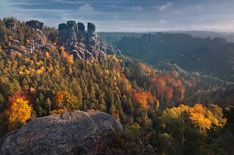 """Photo: #FallFriday  Archive picture from october 2008, national park """"Saxony Switzerland"""" My big ;) contribution to daily theme #FallFriday"""