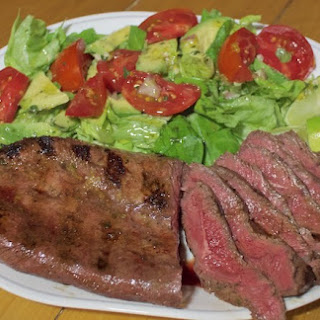 Cuban Inspired Flank Steak Salad.