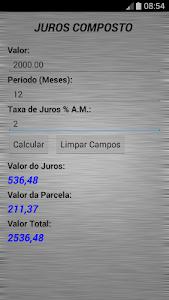 Juros Composto screenshot 1