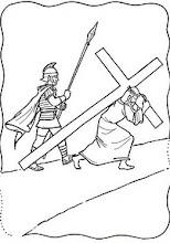 Photo: jesús con la cruz a cuetas
