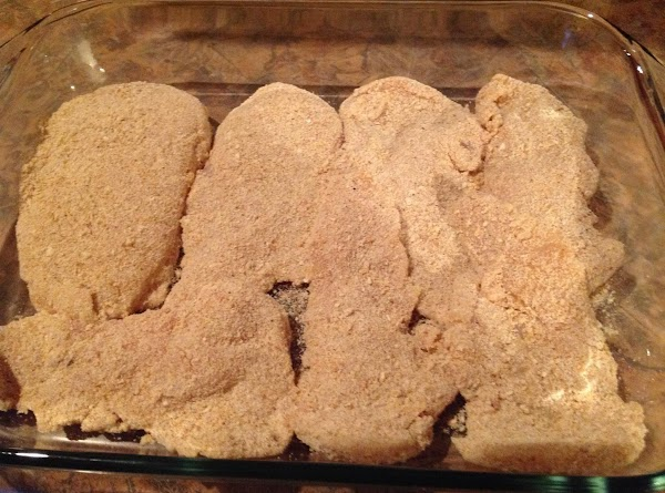 Arrange coated chicken in a shallow casserole dish or baking pan in a single...