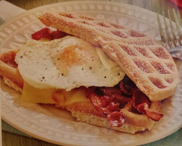 Easter Waffle Breakfast Sandwich Recipe
