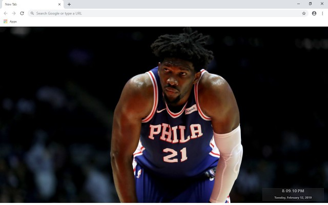 Joel Embiid New Tab Wallpapers Collection