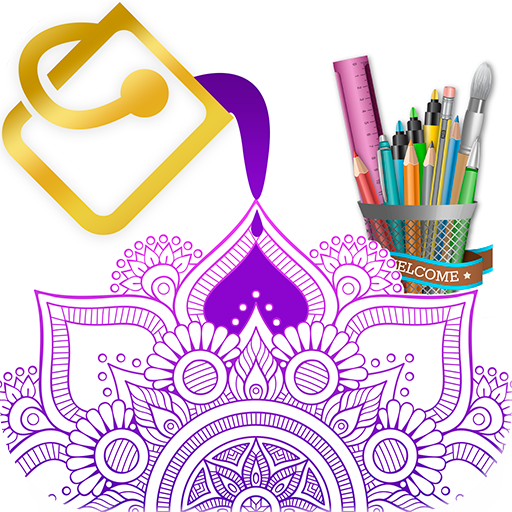 Mandala Coloring Book - Free Coloring Game Icon