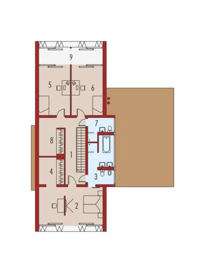Romek II z wiatą - Rzut piętra