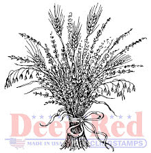 Deep Red Cling Stamp 2X2 - Wheat Grass UTGÅENDE