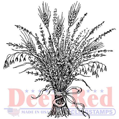 Deep Red Cling Stamp 2X2 - Wheat Grass UTGÅENDE