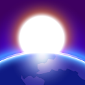 3D Earth - real earth image and space icon