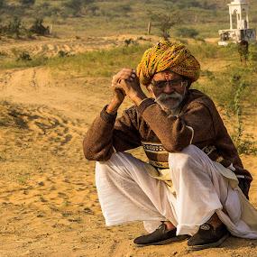 Time For A Breather by Avanish Dureha - People Portraits of Men ( dpc, camel fair, pushkar, rajasthan, 2015, dureha@gmail.com, camels, incredible india, india, avanish dureha )