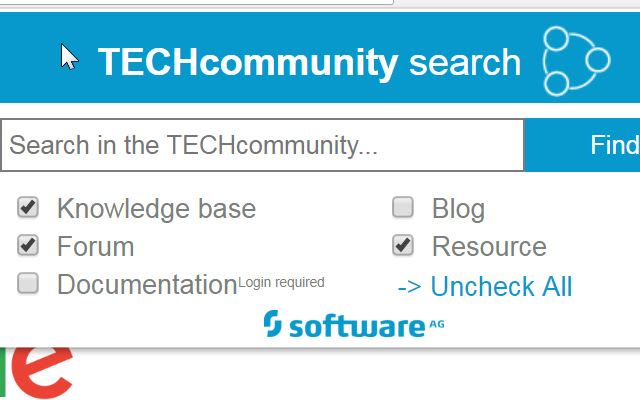 Software AG TECHcommunity Search