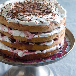 Black Forest Cake with Fresh Cherries.