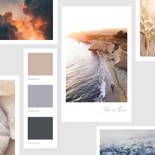 Take Me There Mood Board - Color Palette Template