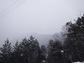 雪が舞い始め