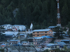 Photo: Gangotri in morning from our lodge