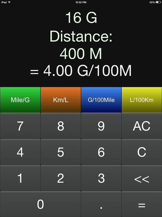 MPG Calculator- screenshot