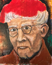 Photo: Grandma Moses.  8 x 10 inches.  Mixed medium on canvas panel.  ©️Marisol McKee