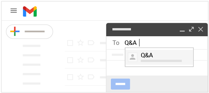 Use group mail, such as for a Q&A forum