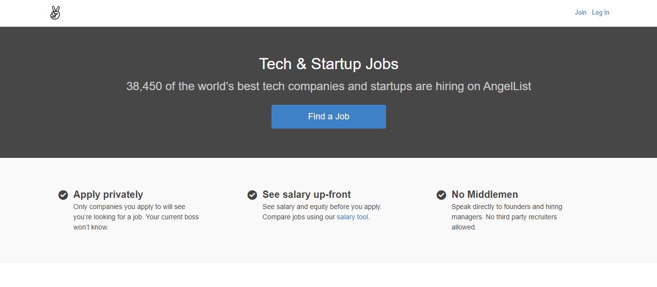 AngelList - Remote Jobs Board