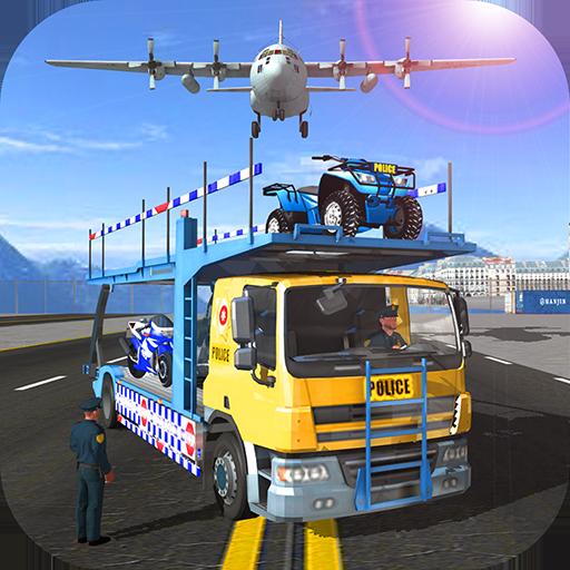 Police Airplane Moto Transport