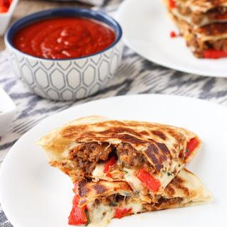 Italian Sausage Quesadillas.