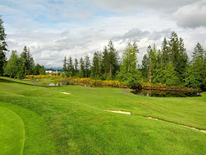 Photo: 7th Hole at Druids Glen. Looking from the green back towards the tee.