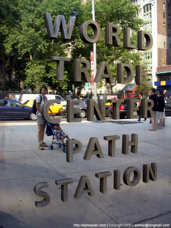 At ground zero, World Trade Center, New York, in 2006.