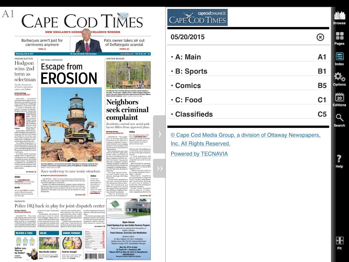 Cape Cod Times- screenshot
