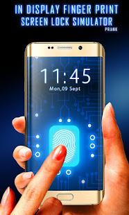 In Display Fingerprint Mobile Lock Simulator - náhled