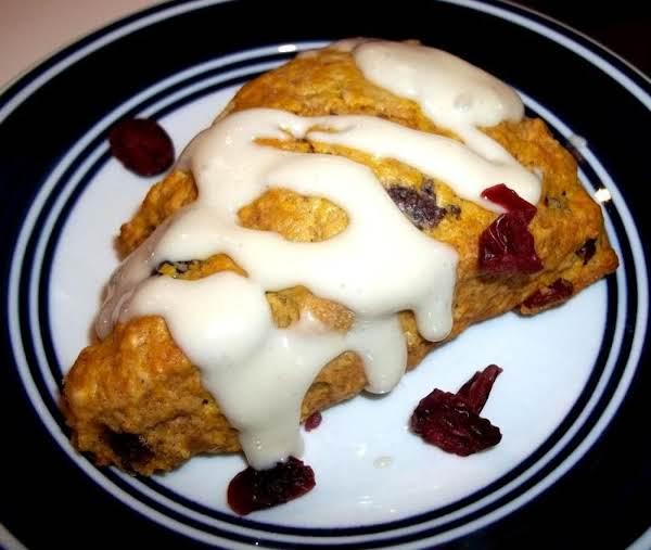 ~ Pumpkin Cranberry Scones ~ Recipe