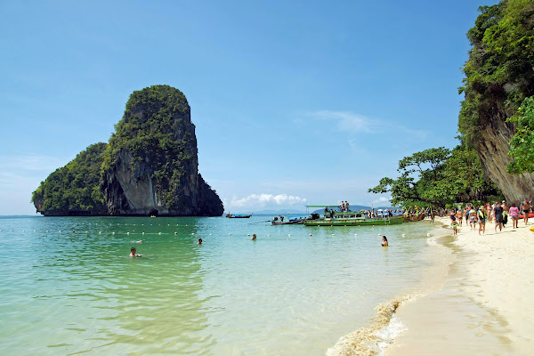 Swim at Phra Nang Cave Beach