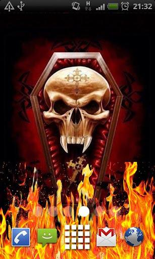 Skull Coffin Flames LWP