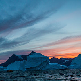 Sunset in East Greenland by Mark Molinari - Landscapes Sunsets & Sunrises ( #sunset, #greenland,  )