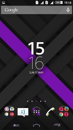 Xperien Theme X-Purple 2.0