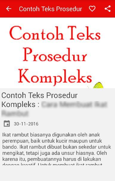 Contoh Teks Prosedur Kompleks - Android Apps on Google Play