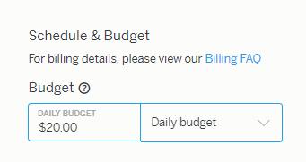 Теперь указываем бюджет группы объявлений