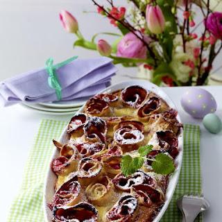 Baked Rhubarb Pancakes